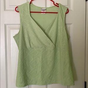 V neck sleeveless blouse